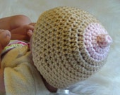 Photo Prop Newborn Size Nipple Hat - Nursing Beanie - 7 Color Choices Made in USA Ready To Ship
