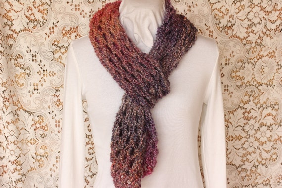 Knitting Pattern Big Chunky Lace Scarf with by ...