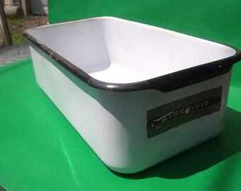 Enamelware Refrigerator Hydro Voir Vegetable Drawer / Storage