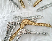 THE ORIGINAL sequin hanger. Choose Gold or Silver sequins, Adult or Child sized.