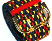 Christian Dior Belt  Miss Dior Wide Belt Vintage 1980's Waist  Belt Retro Dior Belt