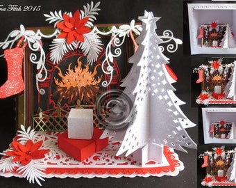 Fireplace Easel & box Cutting File DXF,SVG,MTC,Cameo,Robo,Cricut,ScanNCut