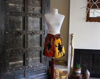 vintage 90s batik wrap shorts