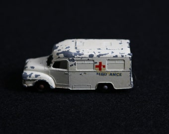 Vintage Matchbox Ambulance #14 Lomas Ambulance Truck 1962 Made in England By Lesney