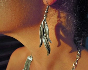 Large Leaf Earrings - mom gift - mothers day from son - from husband - Dangle Earrings - Dangling Earrings, Goddess Boho - Graduation day