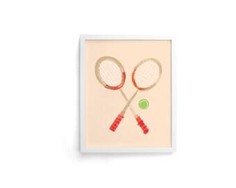 Tennis 8 x 10 Single Art Print