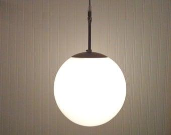 Modern Mid Century PENDANT Light of New Milk Glass