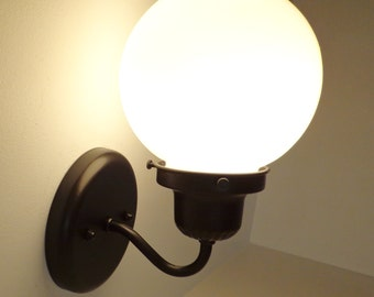 Milk Glass Globe Subway SCONCE Light Fixture