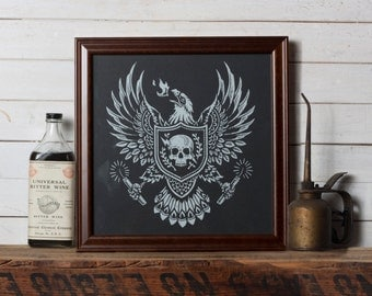 Burning Eagle -  Screen Print - Limited