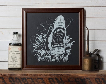 Shark Attack -  Screen Print - Limited