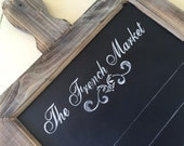 French Market Chalkboard Perfect for French Country and Farmhouse Kitchens Farmhouse Home Decor