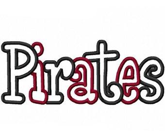 Pirates Embroidery Machine Applique Design 4375