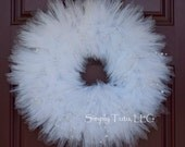 Wedding Tulle Wreath - Ready to Ship