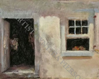 Ximenez Fatio House - Giclee print of painting created in pastel