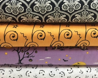 Halloween Fabric Bundle Fat Quarters