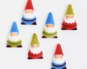 Gnome Sugar Decorations, Woodland Party Cake Decorations, Elf Edible Sugar Decorations (12)