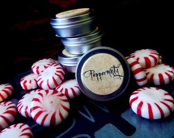Pepperminty (solid perfume--peppermint, vanilla, cinnamon sugar)