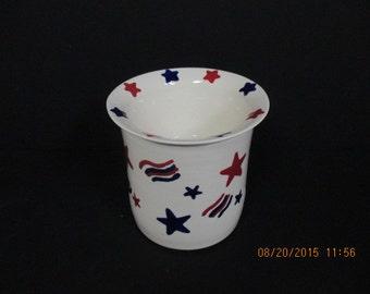 Patriotic Stoneware Dip Chiller
