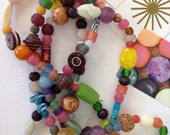 Vintage glass, wood, and lucite beads - great retro Eames colors and textures!