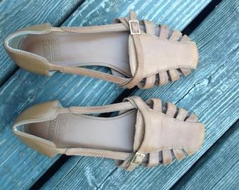 Brown Summer Sandals with Buckle - Mootsies Tootsies, womens sandal