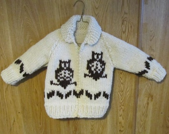 Child's Cowichan Owl Sweater & Toque PDF Pattern