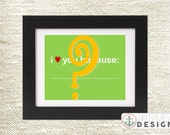 you pick the colors // i love you because // diy printable