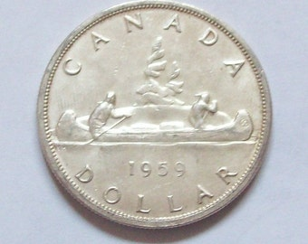 Canada 1959 Silver Dollar Mint Condition