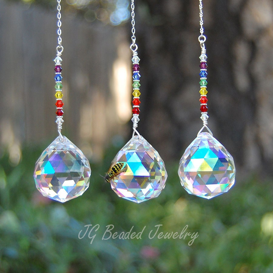 Light Pull Ceiling Fan Chain Decoration Prism Crystal Rainbow