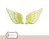 Angel Wings embroidery design. 3 mini sizes! Pretty fairy embroidery in satin stitch. Delicate angel machine embroidery design.