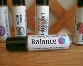 Lavender, Ylang-Ylang & Geranium Essential Oil Roller ~Balance~ All Natural Perfume ~Aromatherapy