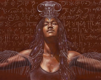 Rise Up Long Lost Goddess- small limited edition print