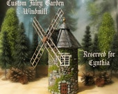 RESERVED LISTING for Cynthia - The Hermitage Series -  Old French Country Windmill - Handmade Miniature Building -  Custom Scale