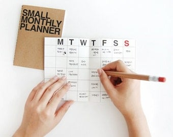Monthly planner -small size