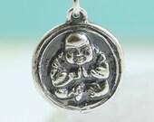Buddha Necklace, Om Symbol, Yoga Jewelry, Buddhist Jewelry Pray Love