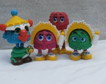 4 Vintage Funny Fry Friends Happy Meal Toys 1989, 1990
