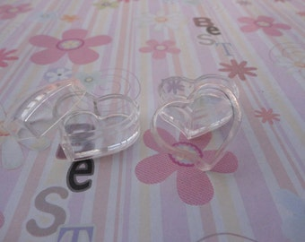 set of 100--mini clear plastic box--square shape plastic box--plastic jewelry box--30x27x18mm