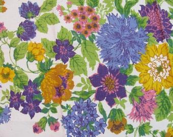 "Vintage Waverly Fabric 48"" W by 34"" Long - Medium Weight -"