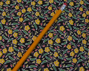 "Fabric - Cotton Calico - Vintage Quilting 1970s Small Print - 44"" Wide - Selling By the Half Yard -"
