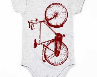 Onesie - Bike - Onesie with Bike Print - 3m, 6m, 12m,18M - Children - Baby Clothing