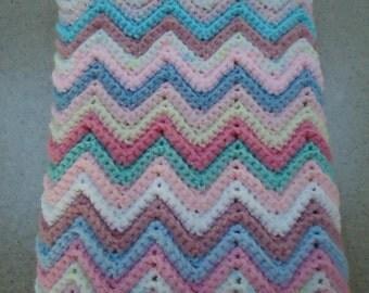 Crocheted Baby Girl Afghan / Blanket