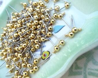 Post Earrings with Loop for Dangle Earring Findings, Ear Stud, Ear Nail 100 PCS