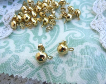 Post Earrings with Loop for Dangle Earring Findings, Over 50 PCS