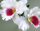White Orchid Artificial Flower Supply Wedding Floral Supplies Wedding Flower Decor Artificial Silk Flower Large Flower Stem Flower Faux Fake