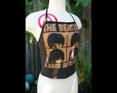 Beatles Halter Crop Top