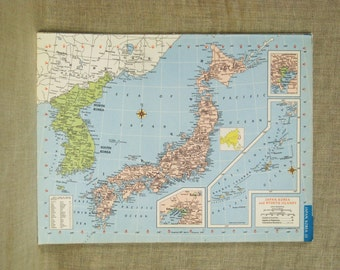 Map of Japan , Maps , North Africa , Asia , Island , Algeria , Japanese Map , Colorful , Geography , Art Supplies , Global , Scrapbooking
