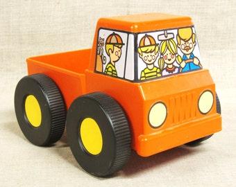 Vintage Tupperware Plastic Toy Truck, Orange, Transportation, Vehicle, Pickup, Cars, Automobile, Child's Toy, Work, Playtime, Pick Up