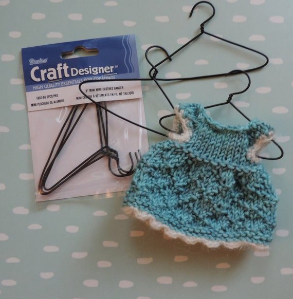2 Inch Mini Wire Hangers, Packaged Set of 3, Great for Doll Clothes and Crafts