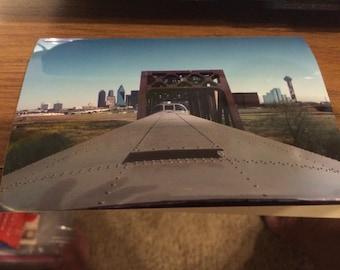 Union Pacific Railroad east bound Dallas Texas 1993. Photo 6 x 4 approx.