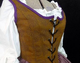 Celtic Knot Corset, Renaissance Faire Bodice, Size 6