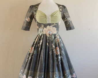 Bird of Paradise Print Bustier Dress- Made by Dig For Victory